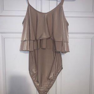 Rue21 Tan/Nude Bodysuit